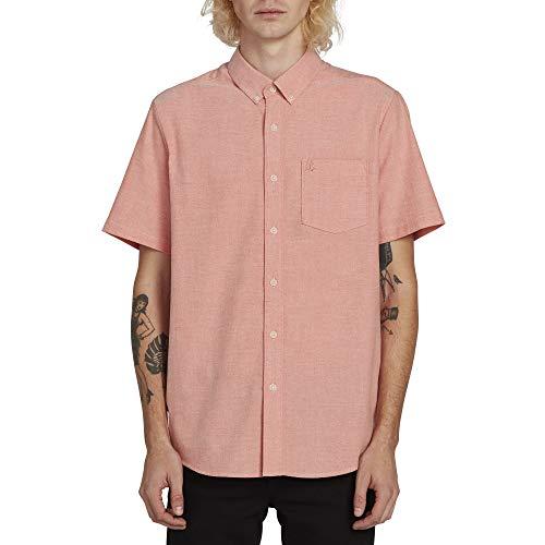 Volcom Men's Everett Oxford Modern Fit Short Sleeve Shirt, Tiger Lily Extra Extra Large]()