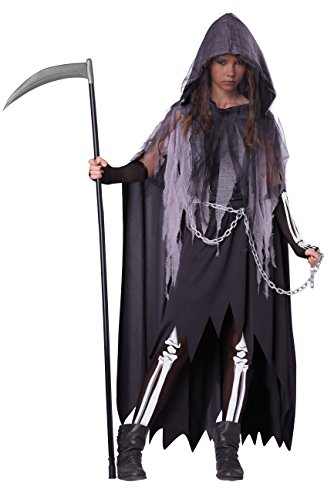 California Costumes Miss Reaper Tween Costume, (Reaper Costume Girl)