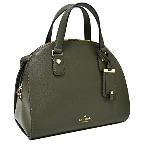 Kate Spade New York Nichols Street Reiley Womens Satchel Shoulder Crossbody Saffiano Leather Bag (evergreen)