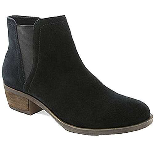 Zippered Uniform - Kensie Garry Suede Zippered Ankle Boot With Short Heel Black 8