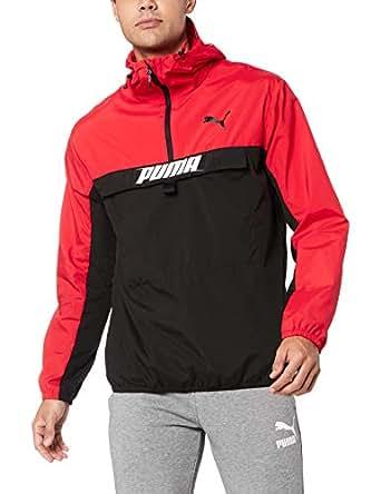 PUMA Men's 1/2 Zip Jacket, High Risk Red, L