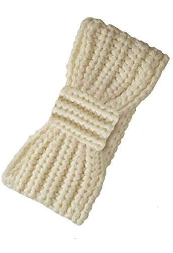 Rampage Chunky Knit Earband Headband One Size - ECR-1004L (Ivory)