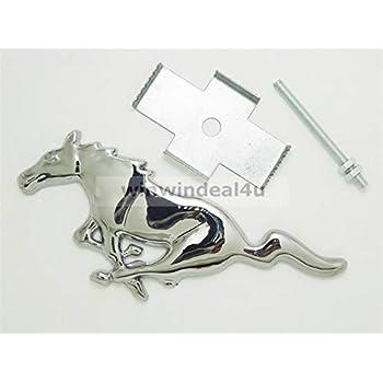 Black Mustang 3D Metal Logo Car Auto Truck Front Hood Grille Grill Badge Emblem