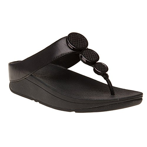 abd00795e098 Galleon - FitFlop Women s Halo Toe Thong Sandals Black 9