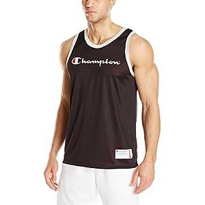 Champion LIFE Men's Reversible Mesh Tank Top, Black/Team Red Scarlet, XX-Large