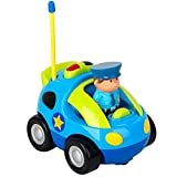 Best COFFLED Kids Electric Cars - Chlidren's Cartoon Race Car Radio Remote Control Music Review