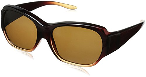 Solar Shield Santa Monica Polarized Rectangular Sunglasses, Caramel, 59 - Sunglasses Amazon Shield Solar