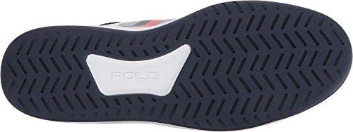 Polo Ralph Lauren Mens Court200 Sneaker Pur Blanc / Français Marine / Rl Rouge