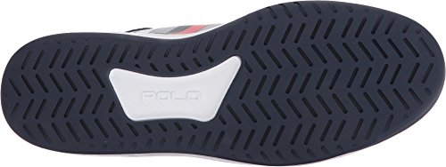 Polo Ralph Lauren Mens Court200 Sneaker Pure White/French Navy/Ralph Lauren Red NEOHMm5n