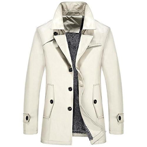 moxishop affaires des hommes coupe-vent et de longues sections, plus velours épais manteau grande taille veste manteau hommes d'hiver