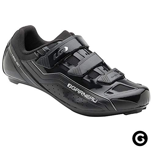 (Louis Garneau Unisex Chrome Bike Shoes for Commuting and Indoor Cycling, Compatible with SPD, Look and All Road Pedals, Black, US (10), EU (44))