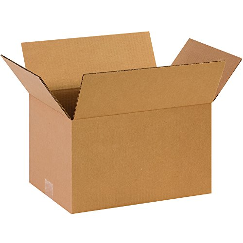 "Partners Brand P14108 Corrugated Boxes, 14"" L x 10"" W x 8"" H, Kraft (Pack of 25) from Partners Brand"
