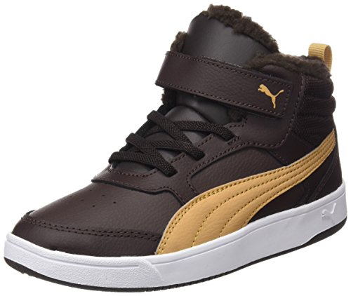 Basses Puma black V Marron taffy Street Fur V2 Enfant Ps Rebound Sneakers Mixte Coffee qpq4a0w