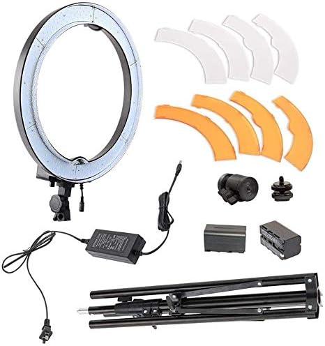 回転光リング支持体360は、メイク自分撮りストリーミング写真用LED照明リングDimming240Bulbs 18インチ自分撮り2つの平均ライブモードの約束を意味します