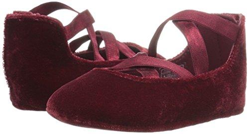 Ralph Lauren Layette Girls Priscilla Burgundy Velvet