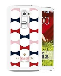 Abstract Design LG G2 Case, Kate Spade 68 White Custom LG G2 Phone Case
