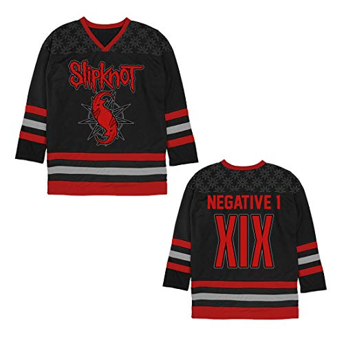 Slipknot Goat Star Hockey Jersey Black/Orange
