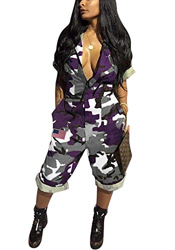 Women Casual Summer Jumpsuit - Camouflage One Piece
