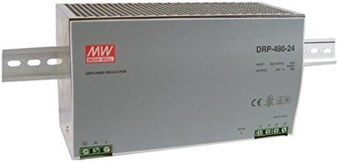 Din-Rail Fuente de alimentación 480W 24V 20A ; MeanWell, DRP-480-24