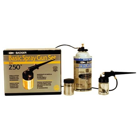 Badger Air-Brush Co. 250-3 Basic Spray Gun Set with Propel