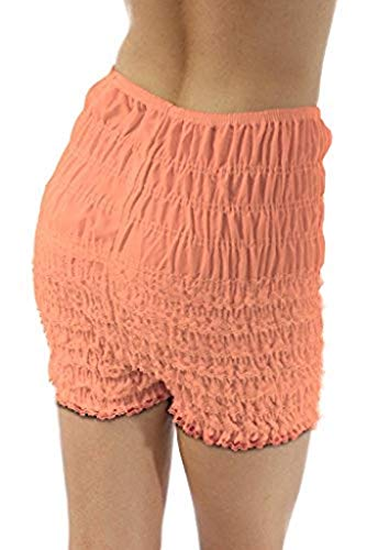 Malco Modes Womens Ruffle Panties Bloomers Dance Bloomers, Sissy Steampunk , Peach, Medium