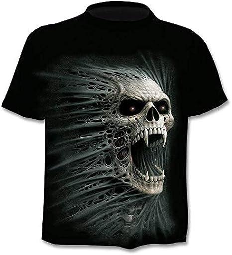 Camiseta 3D para Hombre, Nuevo Diseño Camiseta Hombre/Mujer Heavy Metal Grim Reaper Skull 3D Camisetas Impresas Estilo Harajuku Camiseta Streetwear Tops M-XXXXL: Amazon.es: Ropa y accesorios