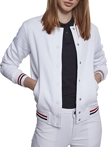 Urban Classic Chaqueta Deportiva para Mujer Mehrfarbig (White/Firered/Navy 01303)