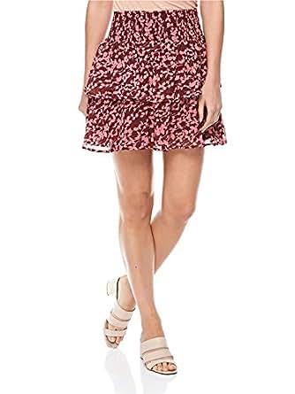 Ichi-20106371-WOMEN-Skirt Casual-Port-S, Wine, Small