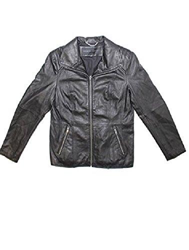 Andrew Marc Fabian Leather Jacket (Black, Medium)