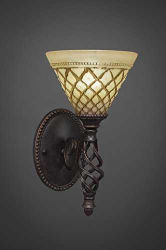 Toltec Chocolate Icing Glass - Toltec Lighting 161-DG-7185 Elegante Wall Sconce with 7
