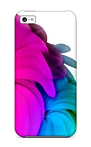 New Cute Funny Bright Colorful Flowers In White Case Cover/ Iphone 5c Case Cover