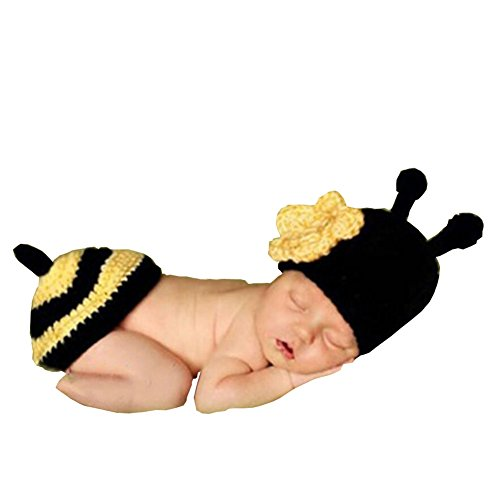 Wowstar Baby Photo Prop Outfit Clothes Knit Crochet Photopraphy Dress Handmade (Bee)