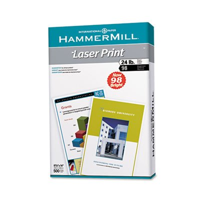Laser Print Office Paper, 98 Brightness, 24lb, 8-1/2 x 14, White, 500 Sheets/RM, Total 10 RM, Sold as 1 Carton by Hammermill (Image #2)