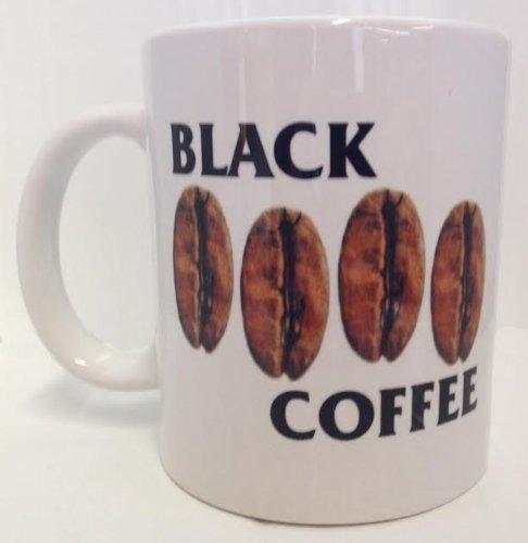 (Black Coffee Flag 11oz Ceramic Coffee Mug by Cotton Cult )