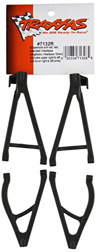 (Traxxas 7132R Rear Suspension Arm Set, Upper and Lower, L&R (extends wheelbase)