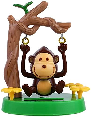 MARSRUT 태양 강화된 댄스 동물의 스윙 태양 원숭이 애니메이션 스윙 장식 댄서 장난감 자동차 장식은 아이들이 장난감 선물을 위해 사무실 공급 장식