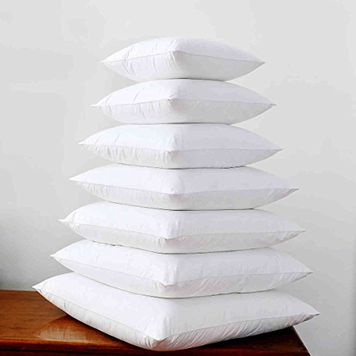 [Duck Down Feather Cushion Insert Pad Decorative Throw Pillow Inner 16x16 18x18 20x20 22x22 24x24 26x26] (Goose Down Feather Pillow Insert)