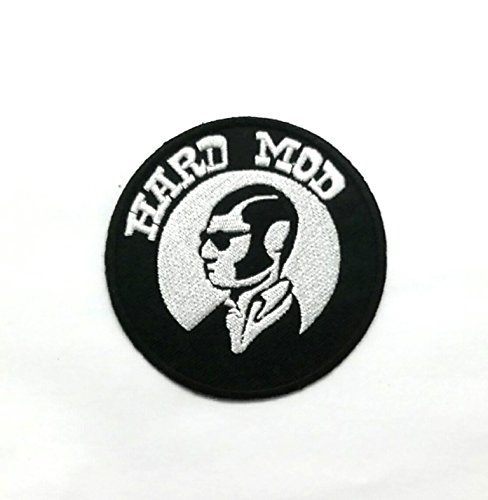 Wasuphand Ska Rude Boy 2 Tone Mod Hard Metal Music Iron On Embroidered Patch Applique DIY Denim Bag Vest