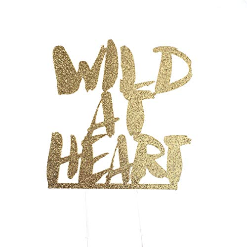 CMS Design Studio Handmade 1st First Birthday Cake Topper Decoration - Wild at Heart - Made in USA with Double Sided Glitter Stock