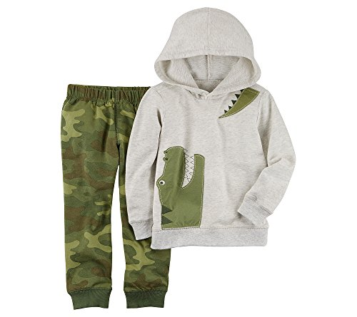 (Carter's Baby Boys' French Terry Alligator Hoodie and Joggers Set 3 Months)