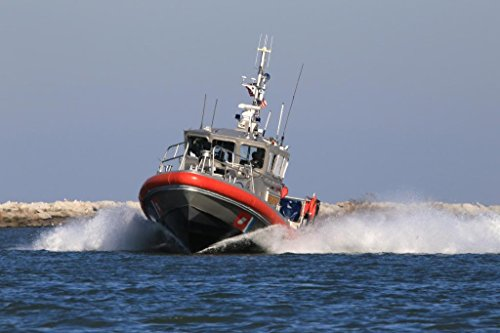 United States Coast Guard Patrol Boat Cleveland Ohio Photo Art Print Mural Giant Poster 54x36 inch