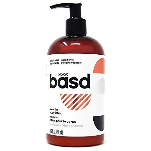 (Basd | Organic Body Lotion for Dry Skin | Seductive Sandalwood | Natural Skin Care | Aloe Vera | Shea Butter | 15.2 oz Bottle)