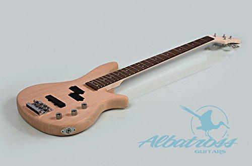 guitar build kit amazon com albatross guitars mahogany body bolt on neck diy electric bass guitar kit b004