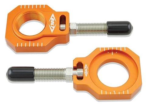 Bolt Motorcycle Hardware (CHAD-KTM2.OR) Orange Chain Adjuster Block - Adjustment Block