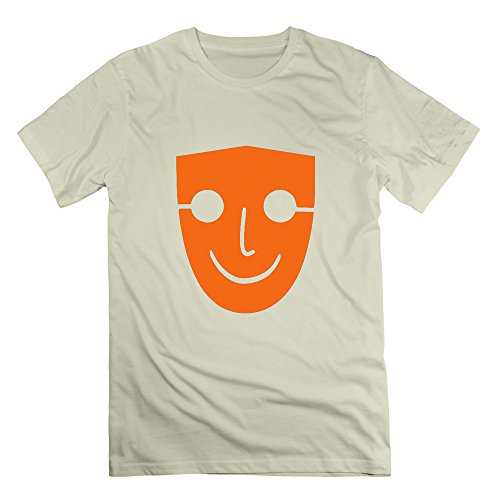 GGifKCU Human Face Mask T Shirt For Man XXL Natural -