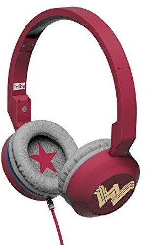 Tribe Wonder Woman Movie On-Ear Foldable Wired Hea...