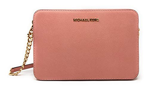 Michael Kors Jet Set Item Large East West Saffiano Leather Cross-body (Pale Pink)