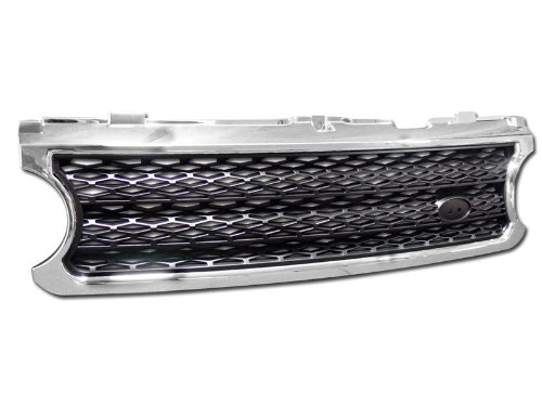 Range Rover Chrome Grill - R&L Racing Chrome/Black Mesh Style Front Hood Bumper Grill Grille 2006-2009 for Range Rover L322 Full Size