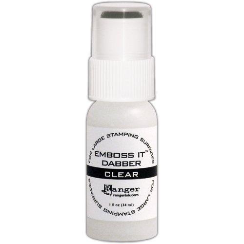 Clear Embossing Ink (Ranger Emboss it Dabber Bottle, 1-Ounce,)