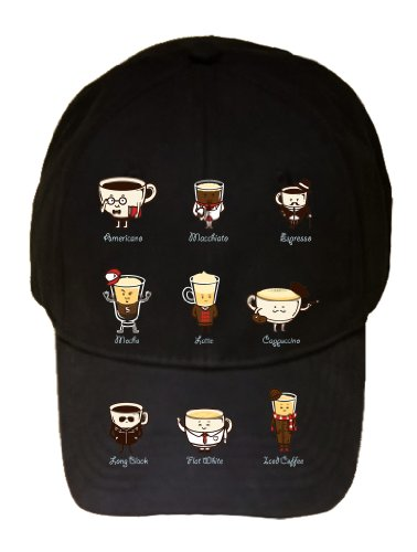 """Coffee Headliner"" Drink Coffee w/ Expressions - 100% Adjustable Cap Hat"